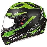 MT Helm Mugello Vapor matt schwarz fluo grün Full Face Motorrad Helm
