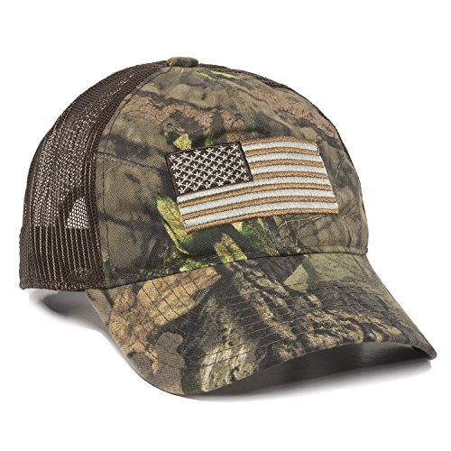 Outdoor Cap Men's Camouflage Americana Cap, Mossy Oak Break-up Country/Brown