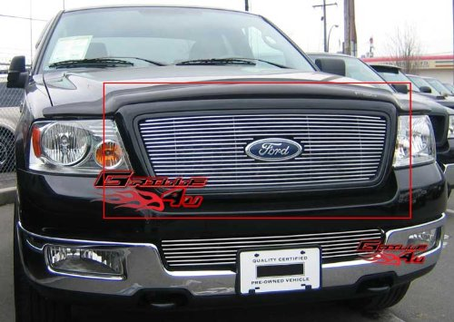 APS F65727A Polished Aluminum Billet Grille Bolt Over for select Ford F-150 ()