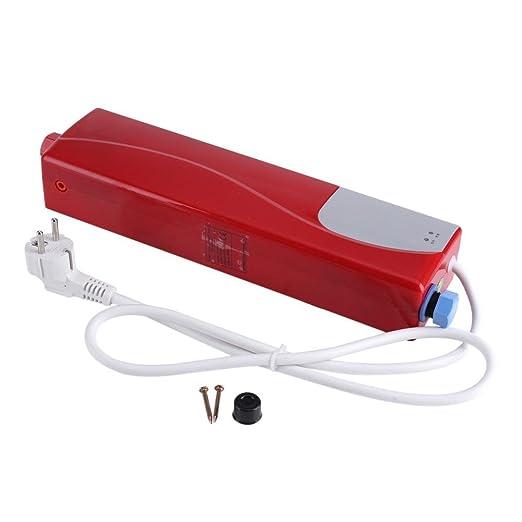 220V 3000W Mini Eléctrico Calentador sin Tanque de Agua Caliente Instantáneo para Lavado de Baño Cocina (Blanco): Amazon.es: Bricolaje y herramientas