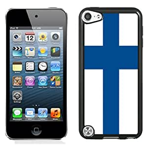 Beautiful Unique Designed Cover Case For iPod 5 With Finland Flag Black Phone Case