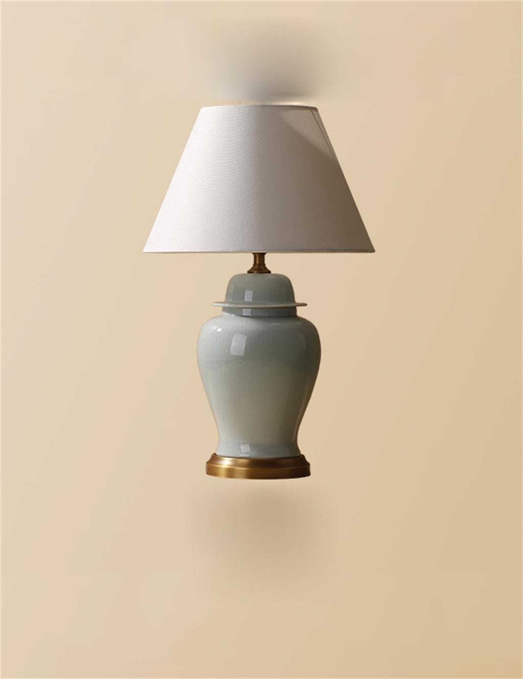 HYNH Amerikanischen minimalistischen Wohnzimmer Schlafzimmer Nachttischlampe Keramik Tischlampe Kinder Tischlampe ( größe : L )