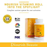 Nourish Beaute Hair Loss Supplement - With Biotin and Natural DHT Blockers - Faster, Thicker Hair Regrowth for Men and Women – 1 Month Supply
