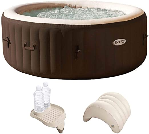 Intex PureSpa 4 personas inflable Spa portátil Hot Tub con soporte ...