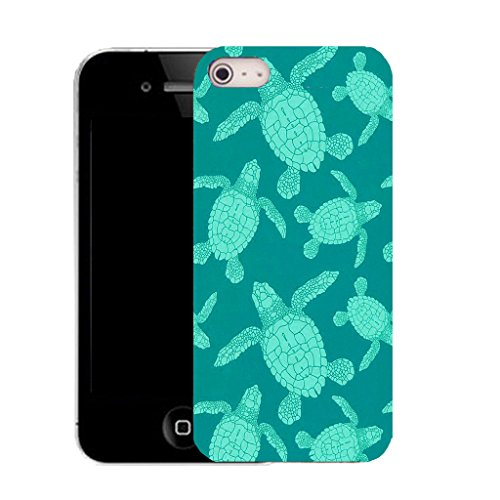 "Mobile Case Mate iPhone 6 Plus 5.5"" clip on Silicone Coque couverture case cover Pare-chocs + STYLET - aqua turtle pattern (SILICON)"