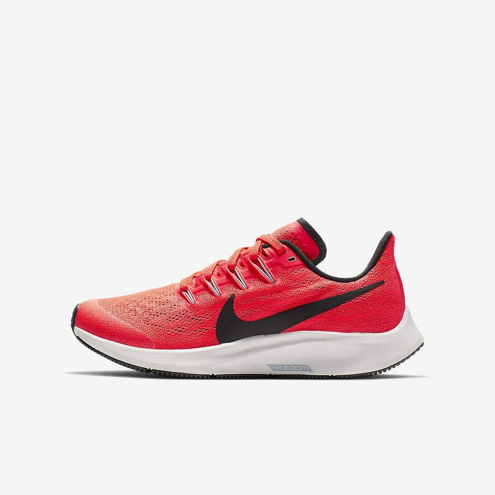 Nike Boy's Air Zoom Pegasus 36 Running Shoe Bright Crimson/Black/Vast Grey Size 5 M US by Nike