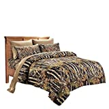 20 Lakes Woodland Hunter Camo Comforter, Sheet, Pillowcase Set (Full, Black & Forest)