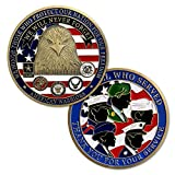 US Proud Military Family Challenge Coin Thank You for Your Service