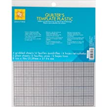 Wrights EZ Quilting 882670027 Quilter's Template Plastic Assortment, 6-Piece
