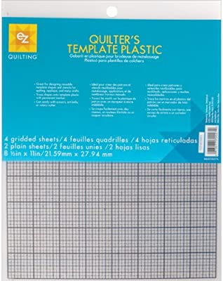 ezquilting 882670027 quilters template plastic assortment 6 piece