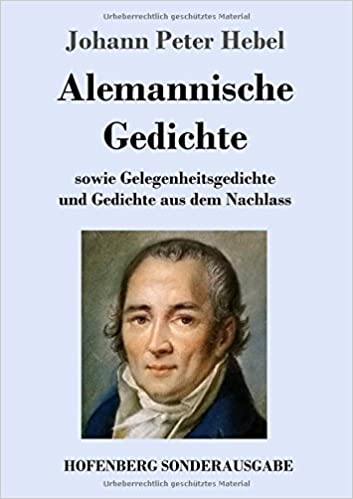 Alemannische Gedichte German Edition Johann Peter Hebel