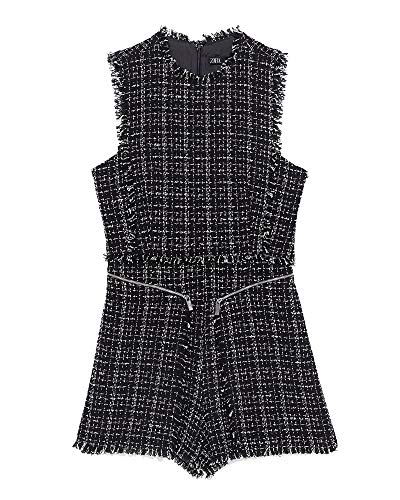 Zara Women Tweed Pinafore Jumpsuit 2236/644 (Small) for sale  Delivered anywhere in USA