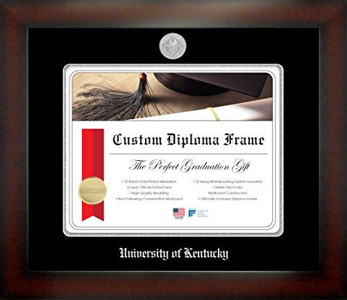 - Celebration Frames University of Kentucky 12 x 15 Mahogany Finish Infinity Diploma Frame
