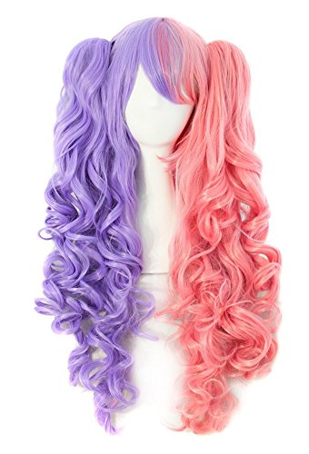 TINYUNICORN Lolita Long Curly Clip on Ponytails Cosplay Wig (Madeline Costume For Adults)