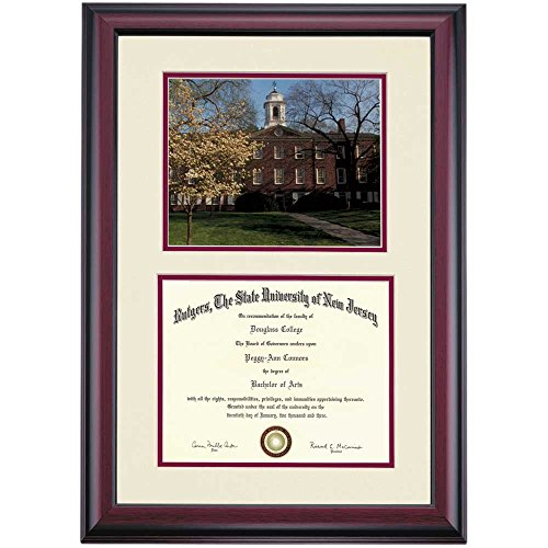 - Campus Linens Rutgers Scarlet Knights Diploma Frame Ivory Maroon Matting Photograph