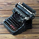 ZAMTAC Retro Typewriter Model Figurine Prop Handicrafts Antique Marking Machine Miniatures Bar Coffee Shop Home Decoration - (Color: Black)