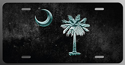 Palmetto Tree Dark Crystal License Plate Tag Vanity Novelty Metal   UV Printed Metal   6-Inches By 12-Inches   Car Truck RV Trailer Wall Shop Man Cave   VLP553
