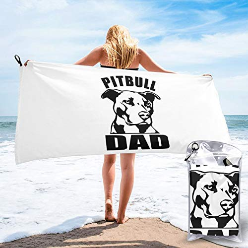 HTNH6YJ Proud Pitbull Dad-1 Microfiber Ideal Fast Drying Towel Good for Travel Yoga Gym Outdoor Etc 2 Sizes