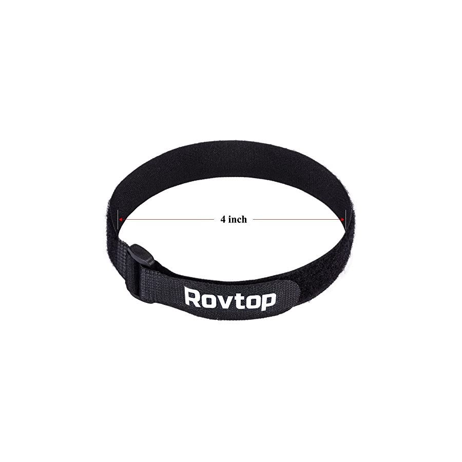 Rovtop 6 Pcs 16 Inch Adjustable Sizes Fastening Tape Reusable Multi Purpose Fastening Wrap for Securing Items at Home, Work and Outdoor