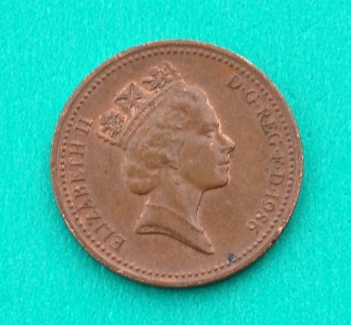 Queen Elizabeth Penny - 1986 UK Queen Elizabeth II Penny Good
