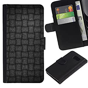 Paccase / Billetera de Cuero Caso del tirón Titular de la tarjeta Carcasa Funda para - Gray Pattern - Samsung Galaxy S6 SM-G920