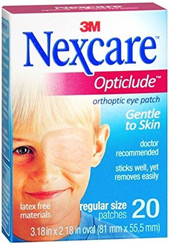 Nexcare Opticlude Orthoptic Eye Patches, Regular Size, 20-Count Boxes (Pack of 4)