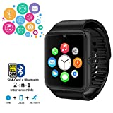 Indigi GT8-BK-CP03 Smart Watch Phone with Touch Screen, Bluetooth & Camera - Black