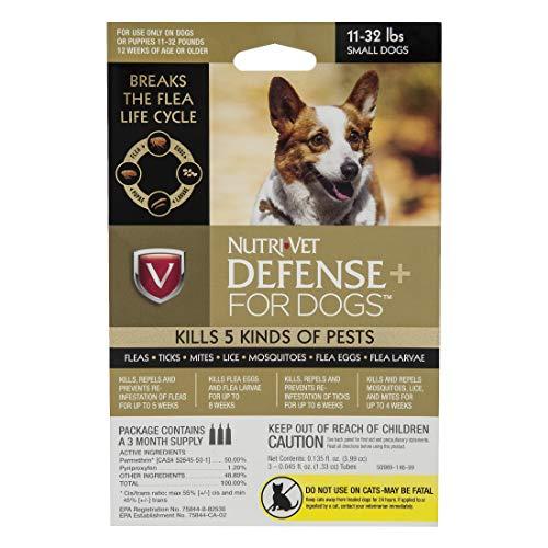 Nutri-Vet Defense Plus Flea & Tick Control for Small Dogs