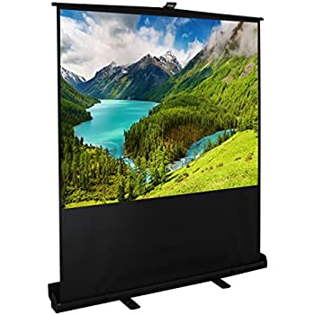 cloud mountain easy use 100 inch 43 diagonal portable pull up floor projector projection screen in aluminium case matte white 13 gain