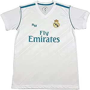 Camiseta Sergio Ramos 4 - Réplica Oficial - Primera Equipación Real Madrid 2017/2018: Amazon.es: Deportes y aire libre