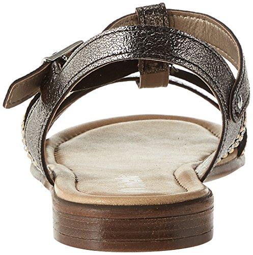 INBLU Women's Flaminia Ankle Strap Sandals Black (Nero 014) 69Ilb