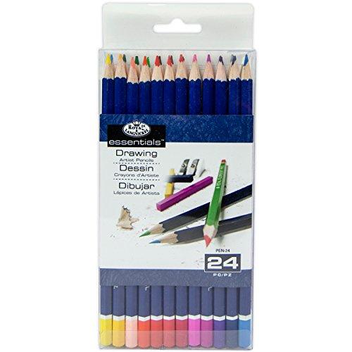 Royal & Langnickel Essentials Color Pencil Set, 24/pkg Langnickel Watercolor Pencil