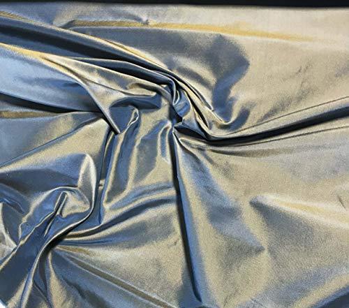 (Blue Gold - Silk Taffeta Fabric )
