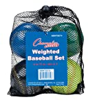 Champion Sports Weighted Training Baseball Set With Mesh Carrying Case