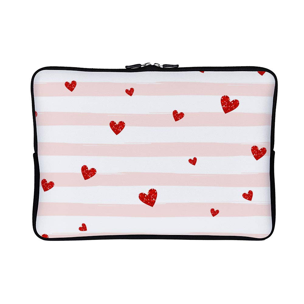 f75f178a1495 Amazon.com: DKISEE Abstract Red Hearts Neoprene Laptop Sleeve Case ...