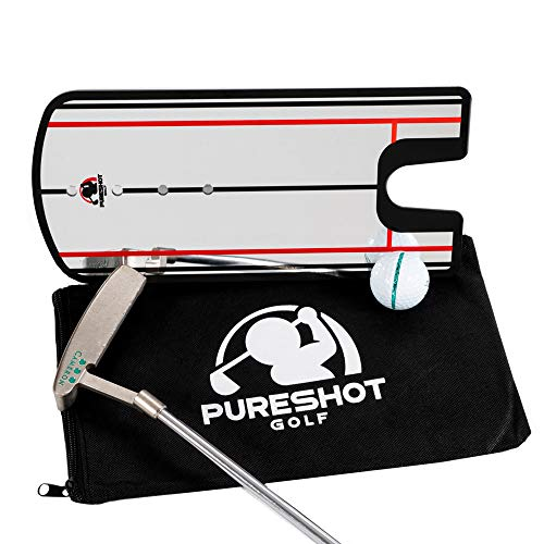Golf Putting Alignment Mirror | Eliminate Pushed & Pulled Putts | Putting Training Aids | Golf Gifts