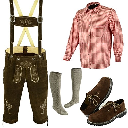 German Bavarian Oktoberfest Trachten Lederhosen Complete Outfit (42) (German Outfit For Oktoberfest)