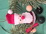 Mr & Mrs Claus Ornaments (Set of 2), Claus Bell Ornaments, Santa Ornament, Mrs Claus Ornament, Red Ornament, Christmas Ornament, Felt Ornament -  Stylish Decor