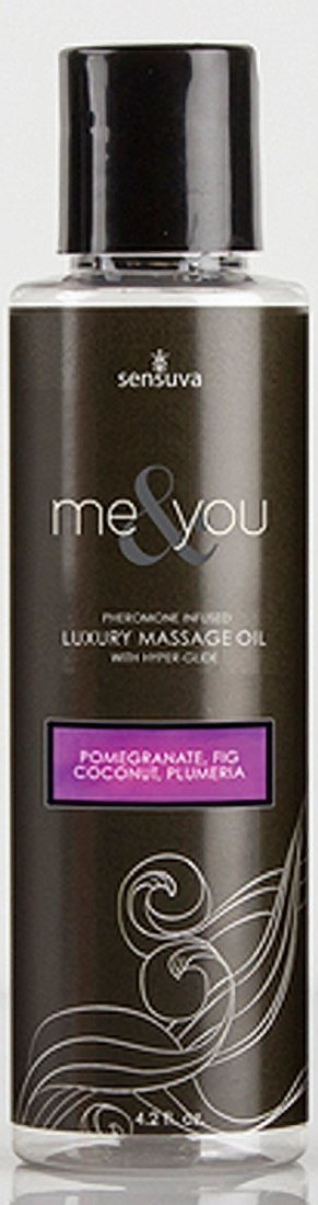 Me and You Massage Oil - Pomegranate Fig Coconut Plumeria - 4.2 Oz. by Sex Toys Online Store