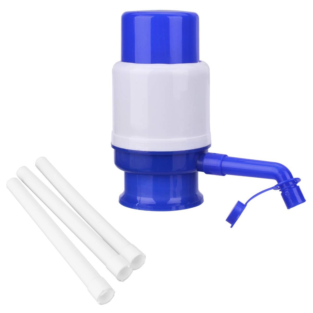 TankerStreet Dispenser di Acqua Pompa Manuale Erogatore Acqua Pompa a Mano Universale BPA Free Potabile per Acqua in Bottiglia 2.5L/3L/5L/6L/8L/10L per Casa Ufficio Ospedale Scuola Fabbrica