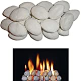 22 medium white gas fire pebbles 65mm x 45mm x 40mm IN COALS 4 YOU PACKING by COALS 4 YOU