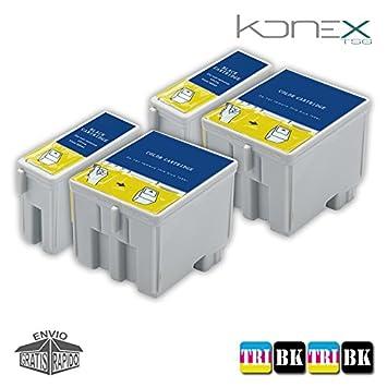 Pack 4 X Cartuchos DE Tinta COMPATIBLES para Impresora LEXMARK I3 ...