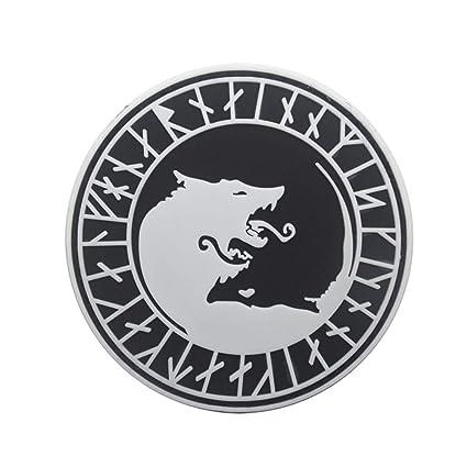 FiedFikt Parche táctico con diseño de Lobo Vikingo, decoración ...