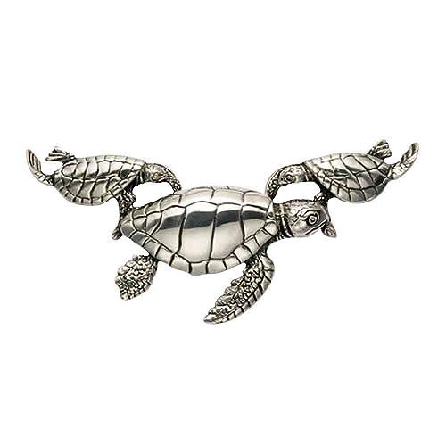 Amazon.com: Plata de ley Grande Hawksbill Sea Turtle & dos ...