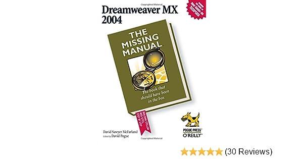 dreamweaver mx 2004 the missing manual david sawyer mcfarland rh amazon com manual dreamweaver mx 2004 español 12 Adobe Dreamweaver