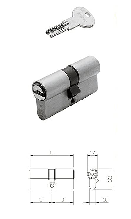 iseo cerraduras iseo R6 Cilindro en Función de 56 mm 28 – 28 Doble Perfil Europeo
