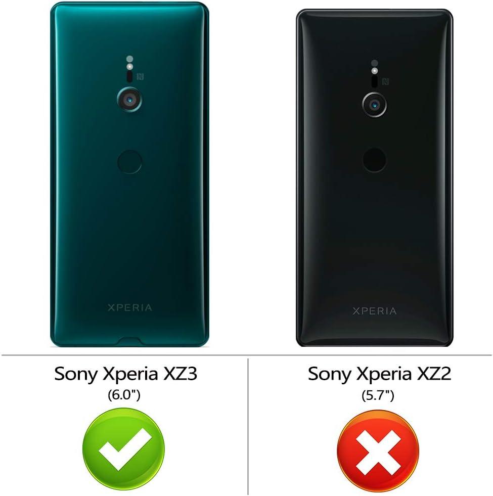 Peakally Funda Sony Xperia XZ3, Transparente Silicona Funda para ...