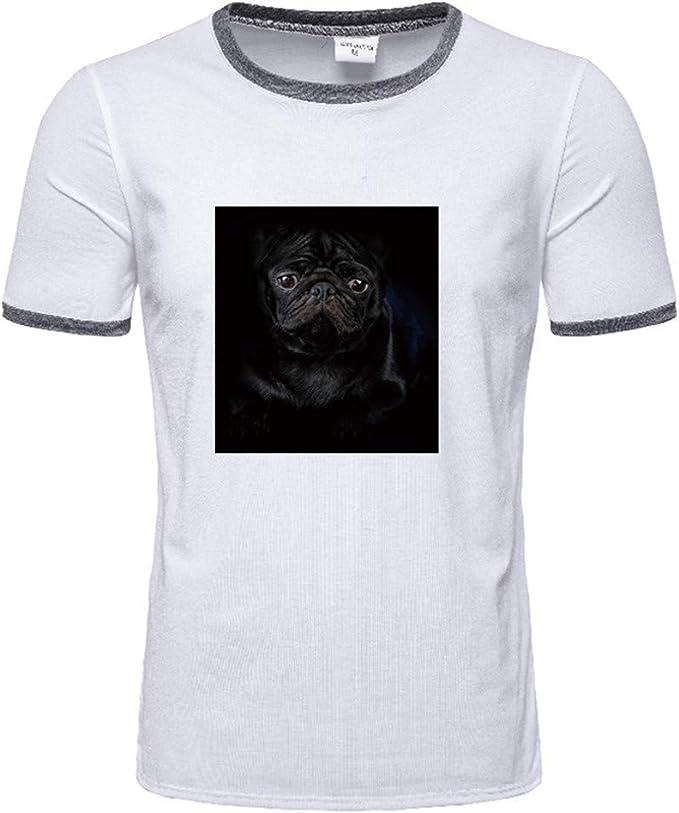 Estilo de Moda. Camisetas Informales para Hombre, Color sólido ...