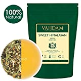 Cheap VAHDAM, Sweet Himalayan Detox Green Tea Loose Leaf (100 Cups) |100% NATURAL DETOX TEA | Green Tea Leaves,Stevia, Turmeric,Shatavari,Cardamom,Ashwagandha |Brew as Hot Tea or Iced Tea |3.53oz (Set of 2)