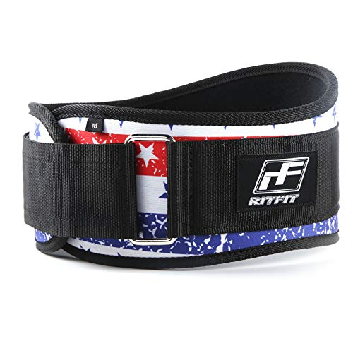 RitFit Weight Lifting Belt (Stars&Stripes, M(30-36'')) (Best Weight Lifting Clothes)